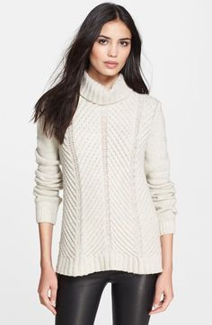 Rarely gets cold enough to wear this in SF, but this is gorgeous.  Free shipping and returns on Vince Chevron Knit Turtleneck at Nordstrom.com. A cowled turtleneck and beautifully knit chevrons center a soft and slouchy sweater.