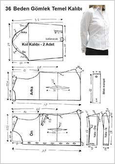 men's shirt pattern with sleeve variations free pattern diagramRead more about mens shirts♥ Deniz ♥Tap the link to check out great cat products we have for your little feline friPattern Making Fundamentals: Dart manipulation and pivot points (VIDEO)Ch Dress Sewing Patterns, Blouse Patterns, Sewing Patterns Free, Sewing Tutorials, Clothing Patterns, Free Pattern, Make Your Own Clothes, Diy Clothes, Sewing Blouses