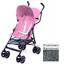 NEW CHICCO PINK SNAPPY STROLLER LIGHTWEIGHT PUSHCHAIR BABY BUGGY & RAINCOVER