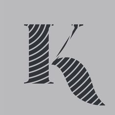 The letter k. This is the part of a letter series done by Zachary Spurling # letter Letter Form, Letter K, Type Design, Graphic Design, Hand Lettering, Typography, Letterpress, Letterpress Printing, Handwriting