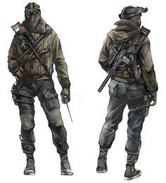 Apocalypse Survivor, Apocalypse Art, Metro 2033, Character Concept, Character Art, Metro Last Light, Apocalypse Character, Post Apocalyptic Art, Art Disney