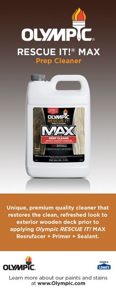 Olympic Rescue It Max Prep Cleaner Is A Unique Premium Quality Product