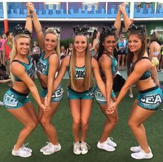 Senior elite cheer extreme group picture idea not my photo