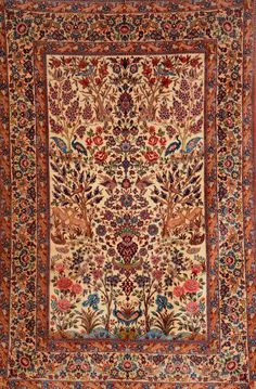 Isfahan, Persia, circa 20 years old, wool/part-silk/on silk foundation, approx. 225 x 151 cm