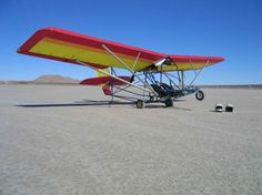 Ultralight aircraft by Quicksilver.  Powered fixed wing flying doesn't get much purer than this.