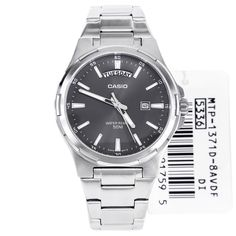 Casio Grey Dial Watches MTP-1371D-8AVDF MTP1371D