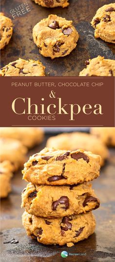 Gluten-free cookies made with peanut butter, chocolate chips and chickpeas (garbanzo beans). Give it a go, and you will be surprised by how delicious these sweets are.