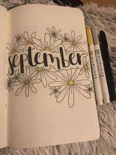 My September cover page is covered with my favorite flower! My September cover page is covered with my favorite flower! My September cover page is covered with my favorite flower! My September cover page is covered with my favorite flower! Bullet Journal Daily, Bullet Journal September Cover, Bullet Journal Simple, Bullet Journal Cover Ideas, Bullet Journal Notebook, Bullet Journal Aesthetic, Journal Pages, Journal Themes, Bullet Journal Ideas Handwriting