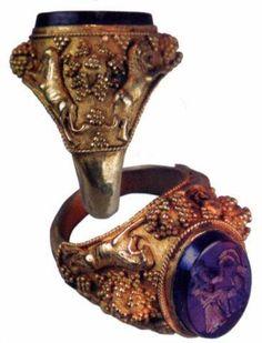 500 гг. до н.э. Королевское кольцо с печатью, Персия, 7 -ой размер золото