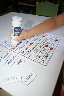 Put the cut-up words in a pile, upside down. As you turn them over, find them on the new sheet and mark them off with a bingo dot marker.