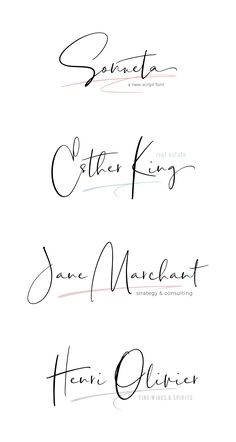 I like this font - Modern signature style script. Modern Script Font, Modern Fonts, Script Logo, Hand Script Font, Hand Drawn Fonts, Hand Lettering, Lettering Tutorial, Signature Fonts, Signature Style