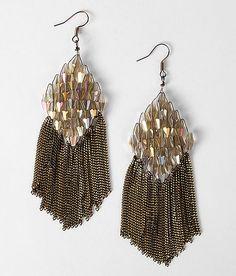BKE Bead & Chain Earring