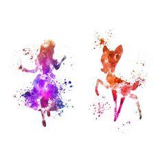 Tatouages temporaires Disney, Alice au pays des merveilles et Bambi