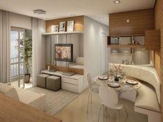 apartamentos pequenos decorados com móveis planejados