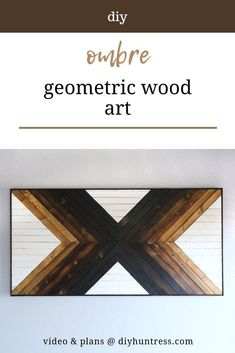 Shed Woodworking Plans DIY Ombre Geometric Wood Art.Shed Woodworking Plans DIY Ombre Geometric Wood Art. Awesome Woodworking Ideas, Woodworking Shows, Japanese Woodworking, Woodworking Patterns, Woodworking Projects Diy, Woodworking Workshop, Woodworking Classes, Woodworking Furniture, Fine Woodworking
