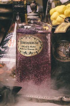 Vintage clove oil bottle turned into a DIY Harry Potter Potion for Halloween: Veritaserum - Scrapbook.com