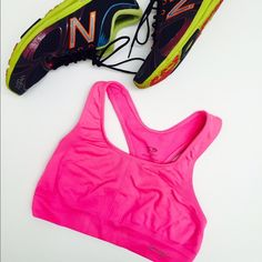 C9 Seamless Champion sports bra C9 Seamless Hot pink champion racer back sports bra.  Bra features seamless wicking fabric to keep you cool and dry in any activity .  Available in more colors, see closet. Champion Other