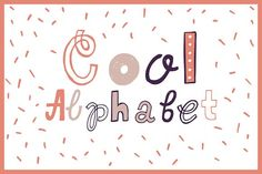 Cool Alphabet by cornflowerpower on @creativemarket