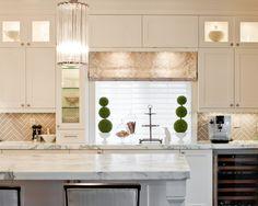Amazing Herringbone Tile Layout Designs : Transitional Kitchen Herringbone Tile…