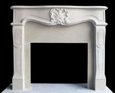 For the family room sandstone fireplace mantel in french style