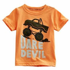 Carter's at Kohl's - Shop our wide selection of boys' clothes, including this Carter's Neon Monster Truck Dare Devil Tee, at Kohl's. Neon Outfits, Kids Outfits, Vinyl Signs, Red Sole, Kids Wear, Little Ones, Tees, Shirts, Monster Trucks