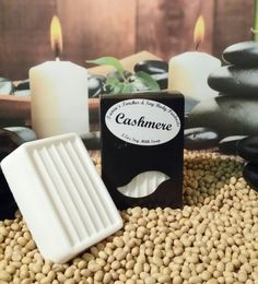 Cashmere Scented GMO Free Soy Milk Natural Soap / Vegan Soap / Gentle Bar Soap by TaniasTorches on Etsy
