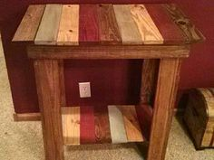 Pallet table @Christine Ballisty Linck