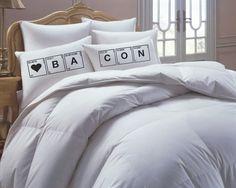Bacon Pillowcase Set