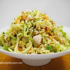 Tangy and crunchy, this noodle salad is always a favorite.
