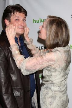 """Nathan Fillion and Susan Sullivan - Arriving at the """"Castle"""" Event at PaleyFest 2012 at the Saban Theater on March 9, 2012 in Los Angeles, CA - Visual Press Agency"""