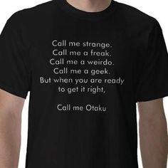 I found Call me Otaku Shirt on Wish, check it out!
