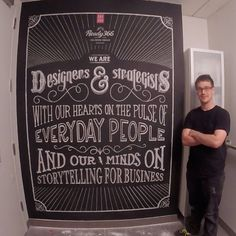 This is a typography mural I made at work :)  #lettering #design #graphicdesign #graphics #handlettering #customtypography #custom #art