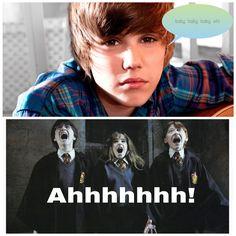 Harry Potter & justin biber
