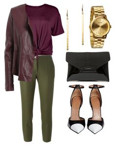 """""""Fall Is Back..."""" by lindsaywittaa on Polyvore featuring Erika Cavallini Semi-Couture, Boohoo, Manila Grace, Givenchy, Michael Kors and Nixon"""