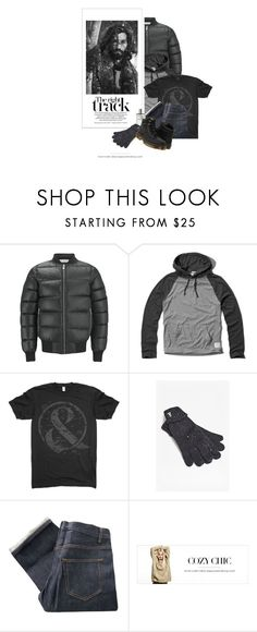 """""""De La Neige Dans Ses Cheveux / Snow In His Hair"""" by halfmoonrun ❤ liked on Polyvore featuring Han Kjøbenhavn, Prada, French Connection, A.P.C. and Dr. Martens"""