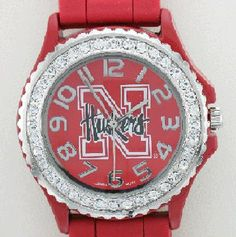 University of Nebraska Watch with Crystal Bezel www.sartorhamann.com