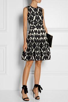 Alexander McQueen | Kleid aus Jacquard-Strick und Chenille-Garn | NET-A-PORTER.COM