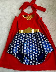 Wonder Woman inspired romper by EverAfterFairytales