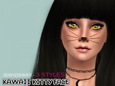 The Sims Resource: Kawaii Kitty Face by Senpai Simmer • Sims 4 Downloads