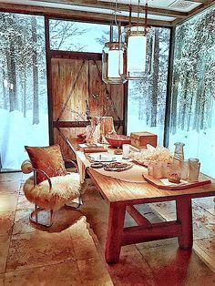 Ralph Lauren Home Modern Chalet dining room
