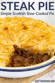 How to Make a Slow-Cooked Steak Pie | Scottish Steak Pie Recipe | British Beef Pie | British Steak Pie | British Meat Pie | British Pie | Scottish Pie | New Year's Meals | New Year Meal | New Year Dish | Scottish Meat Pie Scottish Dishes, Scottish Recipes, Irish Recipes, Meat Recipes, Cooking Recipes, British Food Recipes, British Meals, British Dishes, English Recipes