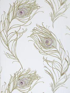 Buy Prestigious Textiles Peacock Wallpaper, Heather, 1938/153 online at JohnLewis.com - John Lewis