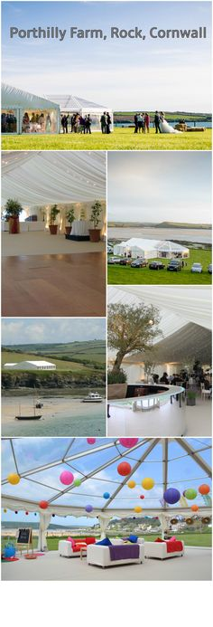 Porthilly Farm, Rock, Cornwall is a beautiful marquee wedding venue with waterfront views of the Camel Estuary - you really can't get much closer! A picturesque church is a short walk from the wedding venue and it has access to the foreshore - perfect for photos!