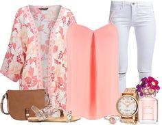Een frisse outfit is perfect voor de zomer. Ga voor een lief vestje met een mooie pastelkleurige top. Een witte broek zorgt voor een extra zomers effect.