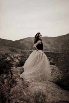Tulle dress.