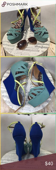 Qupid Brand new summer stunners, these don't need words I mean seriously!?!? Look at these babies! Vacation here you come!!!!. Brand new box- Qupid Shoes Wedges