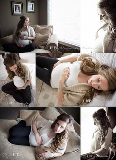 A beautiful maternity lifestyle session.  Pregnant bellies at home. Allison Corrin Photography. www.allisoncorrin.com