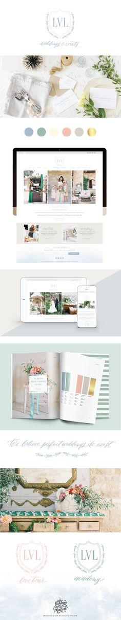 Branding and Wordpress Website for LVL Weddings & Events || Ashley & Malone