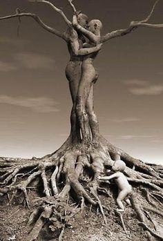 Wood Sculpture - Tree of Life Tree People, Tree Carving, Art Sculpture, Tree Art, Tree Of Life, Belle Photo, Black Art, Wood Art, Bonsai