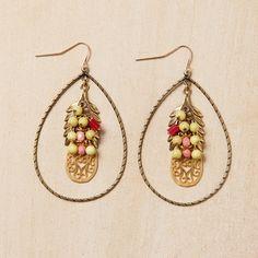Gold And Lemon Hoop Earrings by Jill Schwartz on fab.com